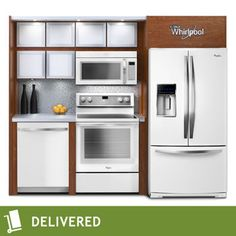 Costco: Whirlpool White Ice 4-pc Electric French Door Kitchen Suite