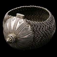 Antique Ethnic Tribal Indian Silver Bracelets - Rabari
