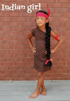 Native american girl costume and it hast to be fancy for school diy indian girl costume with things you already have at home solutioingenieria Choice Image