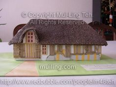 Medieval Norman Farmhouse built by Mui-Ling Teh at age 13