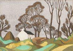 Modern Printmakers: From Shaw's Bridge to Ballyhagan: John Luke - Landscape Art, Landscape Paintings, Acrylic Paintings, John Luke, Art Thou, Irish Art, Cg Art, Japanese Artists, Art Images