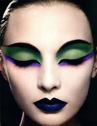 This is a picture of the ideal makeup I would want for my caterpillar, Mila Kunis.  The eyebrows and the green shade remind me of a real caterpillar look.  The purple will perfectly contrast with the dress I chose that will be purple.  The eyeliner is done flawlessly and is a great touch.  It blends with all the modern-ness and will work well in my vision of the play.  The lips are a perfect shade and totally completes the look.