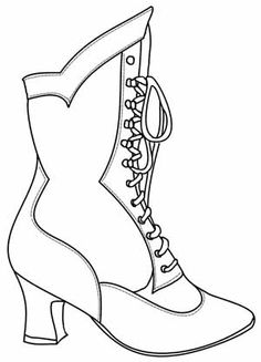 Image Detail for - FREE Digital Stamp - Victorian Boot 1