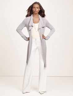 Open Front Cardigan- Elegant and confident, The Limited collection inspired by SCANDAL embodies the aesthetic of Olivia Pope for real-life Gladiators and everyday fashionistas. Elevated fabrics and details have a luxurious look and feel for powerfully sophisticated styling!