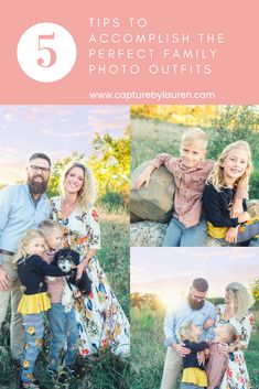 Family photo don't have to be stressful! Let me help you choose your family outfits! With these simple steps I promise, it's not that hard!