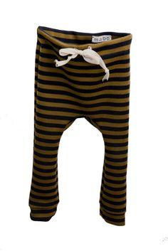 Striped Baby Drawstring Leggings // mabo