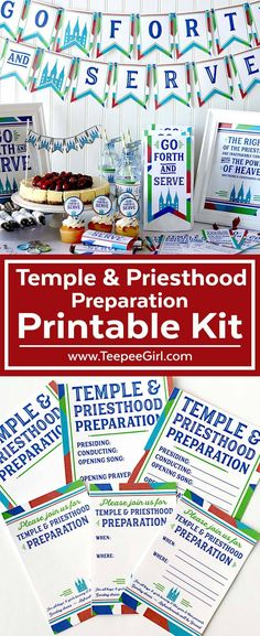 Temple & Priesthood Preparation Printable Kit- Perfect for LDS primary Temple & Priesthood Preparation Night! www.TeepeeGirl.com #Temple&PriesthoodPreparation #LDSPrimary #LDSPrintables