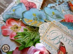 Some of the beautiful dimension and details from Maria's altered Botanical Tea chipboard teapot! #graphic45 #alteredart