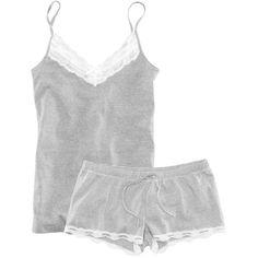 H&M Pyjamas (335 MXN) ❤ liked on Polyvore featuring intimates, sleepwear, pajamas, pijamas, pyjamas, lingerie, dark grey, h&m lingerie, lingerie pajamas and lingerie sleepwear