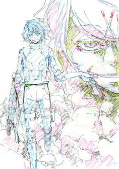 Tokyo Ghoul (東京喰種トーキョーグール) anime character designer,Kazuhiro Miwa(三輪和宏),illustrates antagonistJuuzou Suzuya for the doujinshiAnniversary.