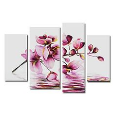 Phalaenopsis Oil Painting - Set of 4 - Free Shipping
