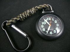 Bucasi PW1030B Military Luminous Easy to Read Spring Clip Pocket Watch Used | eBay