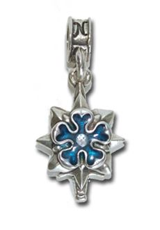 Nomades - Military Intelligence - .925 sterling silver rendition of military itelligence logo accented with blue enamel.