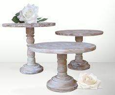 Pedestal Cake Stands For Wedding Reception Decor Buffet Table or Bridal Shower