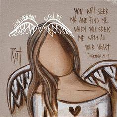 ©RUTART Canvas Print 150 x 150mm Angel Artwork, Nurse Art, Angel Drawing, Angel Pictures, Fairy Art, Heart Art, Whimsical Art, Christmas Angels, Painted Rocks