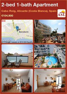 2-bed 1-bath Apartment in Cabo Roig, Alicante (Costa Blanca), Spain ►€104,900 #PropertyForSaleInSpain
