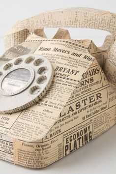 Old book page inspiration: Paper Rotary Phone | Anthropologie