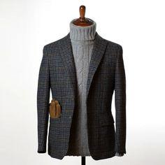 Suit Fashion, Mens Fashion, Fall Fashion, Blazers, How To Look Handsome, Harris Tweed, Gentleman Style, Work Wear, Knitwear