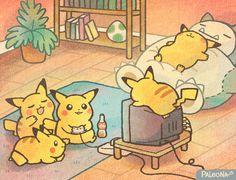 So many… Pikachu's! by Paleona Pokemon Sinnoh, O Pokemon, Pokemon Fan Art, Pokemon Fusion, Pokemon Cards, Art Pikachu, Nintendo, Cute Pokemon Wallpaper, Pokemon Pictures