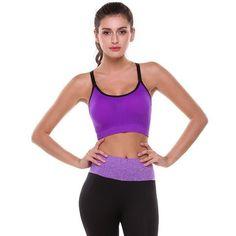 Women Summer Sport Bra Fitness, Pullover Sport Wear Slim Removable Pads