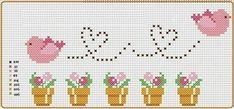 Cross Stitch Alphabet Patterns, Cross Stitch Letters, Cross Stitch Bird, Cross Stitch Borders, Cross Stitch Animals, Cross Stitch Designs, Cross Stitching, Cross Stitch Embroidery, Stitch Patterns