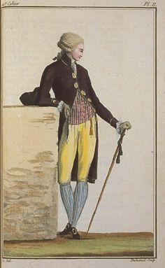 Cabinet des Modes, September 15, 1788, 21e Cahier, 2e Figure
