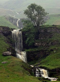 A Waterfall in North Yorkshire, England