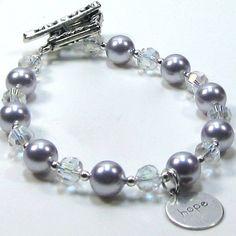 Purple Pearl Bracelet Lavender Swarovski Pearls of by CatjuDesigns, $25.00