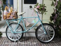 Dollhouse Miniature Bicycle with Basket of by cinderellamoments, $136 ...
