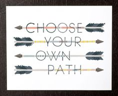 Art Print Choose Your Own Path by smalltalkstudio on Etsy