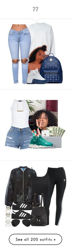 """"""""""" by paris-doll ❤ liked on Polyvore featuring Acne Studios, MCM, NIKE, New Look, MICHAEL Michael Kors, adidas Originals, adidas, Topshop, rag & bone and Ray-Ban"""