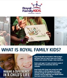 Last summer, Royal Family KIDS Camps partnered with A Case for Character in one of the RFK Camps in San Diego. This summer, A Case for Character plans to attend three camps and provide suitcases to the foster children there. Help make this possible by making a donation today | www.foreverkids.org