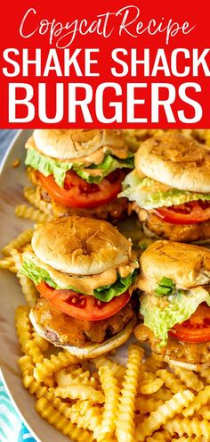 This Shake Shack Burger is a perfect copycat from the burger joint, Shack sauce and all! These burgers are surprisingly easy to make at home. #shakeshack #burgerrecipe Mince Recipes, Burger Recipes, Beef Recipes, Whole Food Recipes, Sweets Recipes, Shake Recipes, Copycat Recipes, Delicious Burgers, Delicious Recipes
