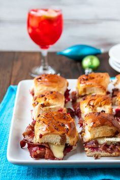 Yummy Appetizers - Bacon, Brie, and Cranberry Sliders