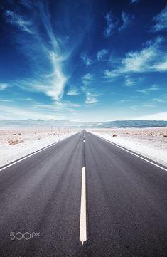 Desert road by Maciej Bledowski on 500px