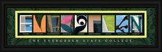 The Evergreen State College Officially Licensed Framed Letter Art