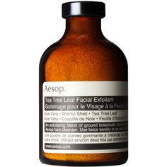 Aesop Tea Tree Leaf Facial Exfoliant (44 AUD) ❤ liked on Polyvore featuring beauty products, skincare, face care, face cleansers, beauty, fillers, cosmetics, makeup, hydrating face wash and face toner