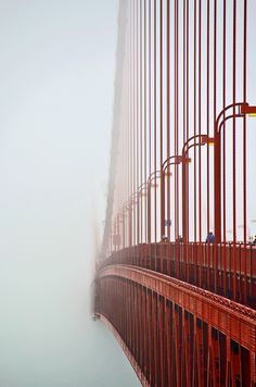 A unique look at the Golden Gate Bridge - San Francisco, California