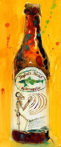 Archival Print of Dogfish Head namaste Beer by dfrdesign on Etsy