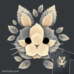 Bunny of leaves | Shirtoid #bunny #leaf #leaves #nemimakeit #noemifadda #rabbit