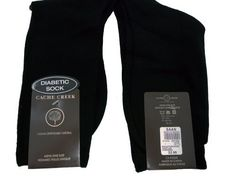 Men's 6 Pair Pack Black Diabetic Socks Full Length, Stays up and Doesn't Cut Circulation by Cache Creek. $7.99. These dress socks are specially designed for men with Diabetes who need quality dress socks that will offer the highest level of comfort.