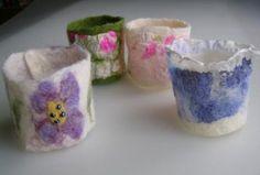 Felt bracelet - handmade felt in combination with silk, arts, handmade, unique, ready to ship by EcoDyeing on Etsy Diy Jewelry, Jewellery, Unique Jewelry, Felt Bracelet, Handmade Felt, Handmade Bracelets, Felting, Creative Ideas, Fiber