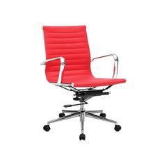 silla oficina réplica eames roja baja | Tiendas On