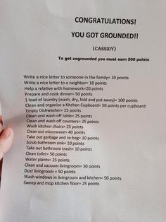 Great idea for building responsibility while at the same time showing consequence for bad choices.