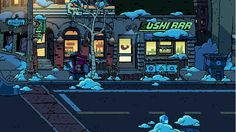 scott pilgrim game backgrounds - Google Search