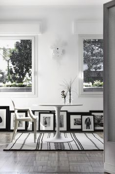 black and white cozy decor