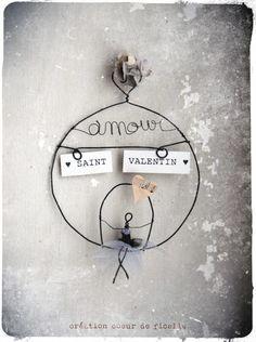 """Bulle """"saint valentin"""" en fil de fer Plus"""