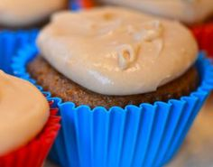 Sweet Potato Cupcake With Caramel Cream Cheese Frosting.