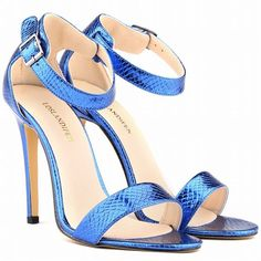 Sexy Stiletto Heel Peep-Toe Crocodile High Heels Sandals