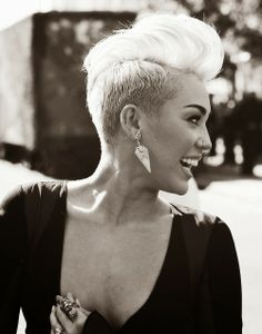 The great haircut of Miley Cyrus
